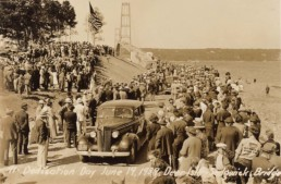 The opening of the Deer Isle-Stonington bridge in 1939