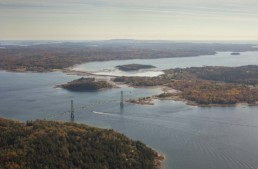 Deer Isle bridge, shot from above