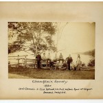 """yellowed old photo that reads """"champlain society 1880"""""""