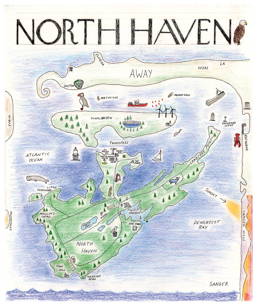 View of the World from North Haven  Island Journal