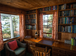reading room in what was once Rachel Carson's summer home