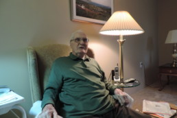 Michael Carney at his home in East Longmeadow, Massachusetts.
