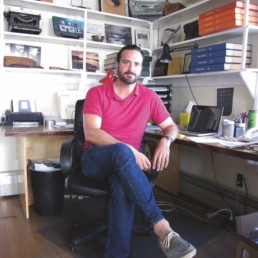 Ben Barrows in his office