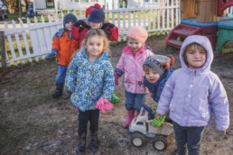small children playing at a childcare