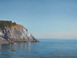 oil painting of ocean cliff