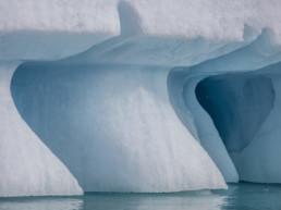 detail shot shapes in iceburg