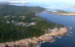aerial view of Schoodic Peninsula, Maine