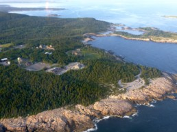 aerial view of Schoodic Peninsula, Maine