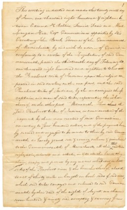 Treaty Between Massachusetts and the Penobscot Nation