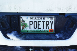 state of maine license plate that reads