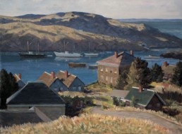 oil painting of Monhegan Island