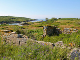 Old foundations from earlier centuries on Damariscove Island
