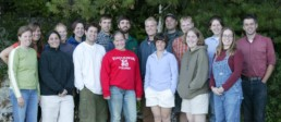 group of young adults in early 2000s clothing