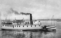 old photo of island ferry