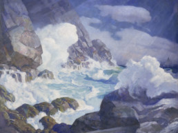 N.C. Wyeth painting of Black Rock, Monhegan Island, Maine