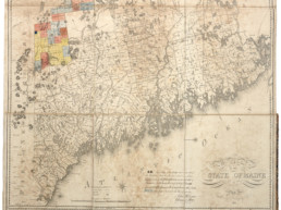 1822 map of the state of Maine