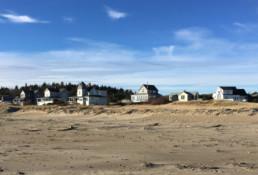 houses along popham beach maine