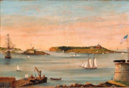 1853 painting of portland maine harbor
