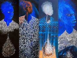 paintings by Daniel Minter